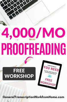 How to Make Money from Home Proofreading Romance Novels. FREE Workshop. Great for WAHMs