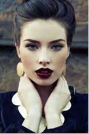 dark red lips <3