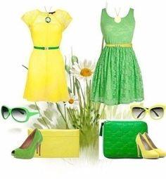 Учимся красиво комбинировать цвета: желтый + зеленый 1
