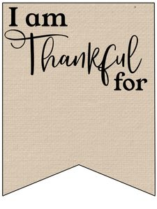 I am Thankful for Printable Banner - Paper Trail Design