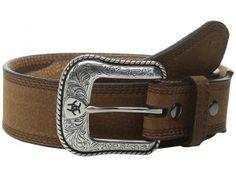 Ariat Triple Stitch Belt (Brown Oiled Rowdy) Men's Belts