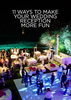 Need some unique wedding ideas? Check out those 11 ways to make your wedding reception more fun.