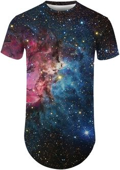 Women 3D Print Galaxy Short Sleeve Tshirt Black Shirt Outfit Men, Short Sleeve Tee, Short Sleeves, Galaxy Shorts, Online Clothing Stores, 3d Printing, Tee Shirts, Mens Tops, Clothes