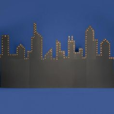 Cityscape Silhouette could put lights behind instead?
