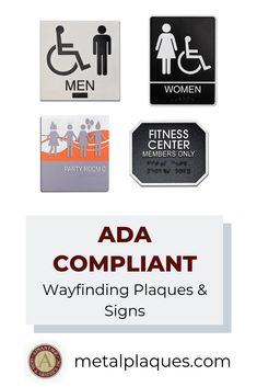 In 1990 the ADA was signed into law, and ever since, Advantage Signs & Graphics has made sure that every restroom sign, telephone sign, stairwell sign, and handicap accessible plaque are 100% compliant with their standards. You can always trust that your plaque will meet the strict requirements that the ADA sets forth.