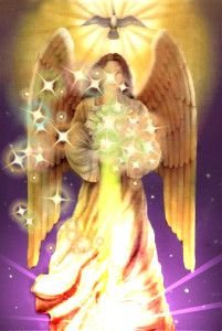 "Archangel Azrael, which translated is to ""whom God helps.""  He is first and foremost the Angel of Transition"