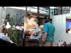 Artist Jonas Gerard painting to performance by Gwen Hughes - YouTube