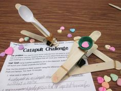 Give your students hands-on experience with the scientific principles of force and motion as they research, design, and build catapults that turn ordinary Valentine candy into projectiles.