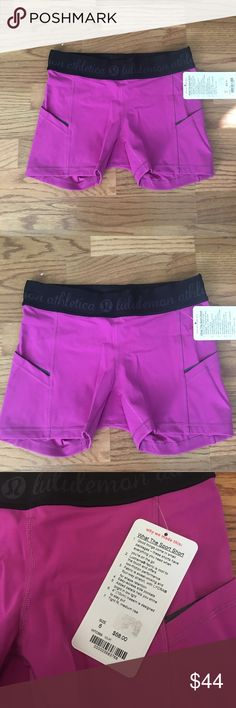 💃🏼FLASH SALE💃🏼purple running/exercise shorts What the short shorts New with tags! lululemon athletica Shorts
