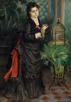 Pierre-Auguste Renoir, Woman with Parrot, 1871. Oil on canvas, 36 1/4 x 25 5/8 inches (92.1 x 65.1 cm)