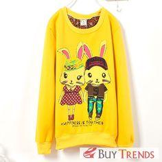 Korean Lovely Style Women's Printed Sweatshirt