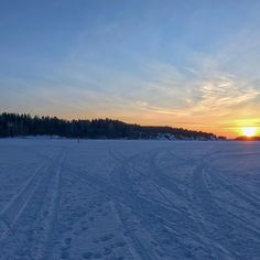 Sunset on the ice. Finland, Ice, Snow, Sunset, Landscape, Winter, Nature, Outdoor, Instagram