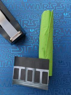 Light saber napkin (utensil holder)