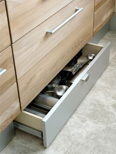 Secret drawer in kitchen skirting!!