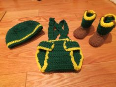 Everyone should check these out! They are being made by my wonderful cousin! Crochet John Deere Newborn Outfit Great by ReeseCustomCreations, $35.00