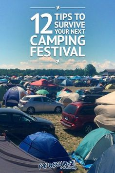 Camping Music Festival Survival Tipps, was zu packen und vieles mehr - All things Camping - Retro Camping, Camping Style, Beach Camping, Camping With Kids, Florida Camping, Camping Hammock, Family Camping, Camping Signs, Camping Games