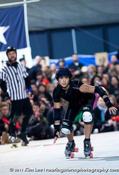 This is one of my trainers:: Current derby hero - Hauss the Boss, #55, Texas Roller Girls. (Hot Rod Honey's // Texecutioners) She's HAUSS-some!