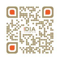#QR_Code #Design von #iDIA_Markeitng aus #Mülheim in Firmenfarben und mit #Logo
