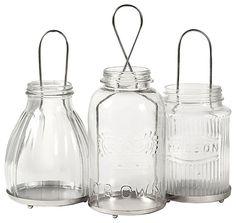 IMAX Spangler Jar Lanterns - Set of 3 | Bass Pro Shops #rusticdecor #cabin #lodge
