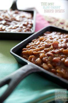 THE Best Slow Cooker Baked Beans on MyRecipeMagic.com