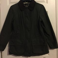 WOMENS BARBOUR JACKET Dark Green, Plaid on Inside Barbour Jackets & Coats