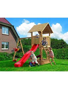 KARIBU Set 1: Spielturm »Hummel (mit 90 mm starken Pfosten)«
