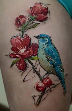 50+ Examples of Colorful Tattoos  <3 ! I love the white in the wings!