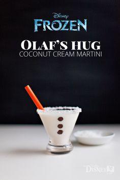 Olaf's Hug -- Coconut Cream Martini {A Disney Inspired Cocktail}