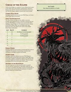 """rollforlesbian: """"A reupload of literally, hands down, my favorite subclass I've ever made. Go forth and be spooky. """" Dungeons And Dragons Classes, Dungeons And Dragons Characters, Dungeons And Dragons Homebrew, Dnd Characters, Dnd Druid, Dnd Character Sheet, D D Races, Dnd Dragons, Dnd Classes"""