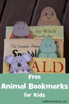 Animal Bookmarks for Kids...free printable