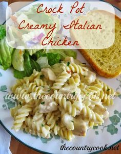 The Country Cook: Crock Pot Creamy Italian Chicken