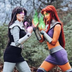 /r/cosplay: for photos, how-tos, tutorials, etc. Cosplayers (Amateur and Professional) and cosplay fans welcome. Star Fire Cosplay, L Cosplay, Raven Cosplay, Group Cosplay, Cute Cosplay, Cosplay Dress, Amazing Cosplay, Cosplay Outfits, Halloween Cosplay