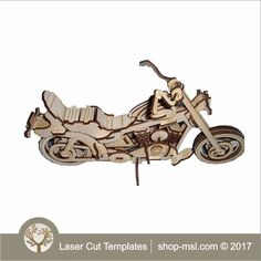 """This bike 3d model is ideal for educational toy's, or cut out of different colours for a show stopper. This model is for 3mm wood, but can easily converted for 6mm wood by enlarging the artwork to 200%. 3mm wood measure around 150 x 300mm.There is a PDF with instructions included.   <a href=""""http://shop-msl.com/View/Index.php?pge=1&cat=123"""" style=""""text-decoration:underline""""> more 3d models </a>   <a href&#..."""