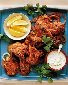 Tandoori Chicken Legs with Raita