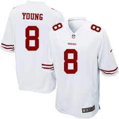 Men's Nike San Francisco 49ers #8 Steve Young Game White NFL Jersey