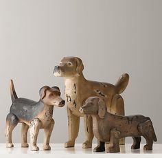 Antiqued Wood Dogs | Accessories | Restoration Hardware Baby & Child