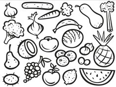 fruits and vegetables coloring pages pdf coloring pages fruits vegetables page 1 free download