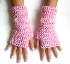 Fingerless gloves  pink  gloves cozy gloves wool gloves free shipping. $19.00, via Etsy.