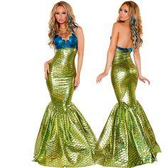 Sea Maid Mermaid Halloween Cosplay Women Costumes