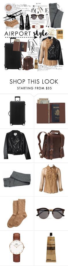 """""""On my way to you"""" by areallycoolemail-1 ❤ liked on Polyvore featuring Rimowa, Royce Leather, Kate Spade, Vagabond Traveler, Tattify, Pringle of Scotland, Bamford, Illesteva, Daniel Wellington and Aesop"""