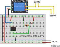 Attiny85 light sensor switch | Elec-Cafe.Com