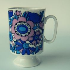 Vintage Royal Crown Arnart Smug Mug Floral Fashion by keysNparrots, $14.00