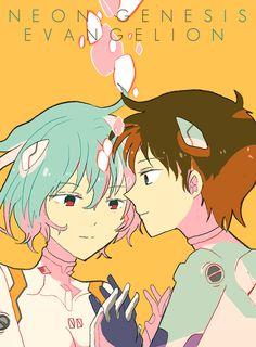 Neon Genesis #Evangelion #Rei #Shinji