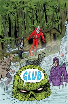 Justice League Dark #31 variant cover by Mike Allred