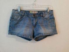 Roxy Junior Women's Denim Blue Jean Shorts with 5 Pockets Size 9  #Roxy #MiniShortShorts