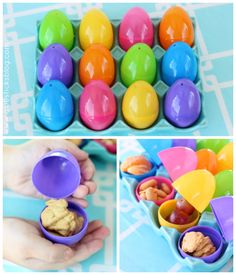 Go on an Easter Egg Hunt LUNCH! Fill eggs with healthy lunch items and set the kids loose! A family tradition in our home for years. We also pack eggs in the kids' lunchbox the day before Spring Break!