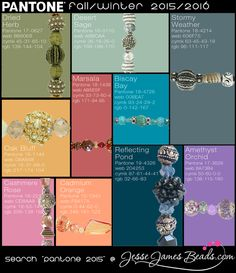 Make jewelry for Fall. Fashion trend beads in Pantone colors, bead mix strands start at 5.99