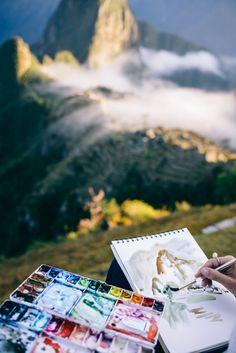 Lauren Taylor Creates Painting Machu Picchu