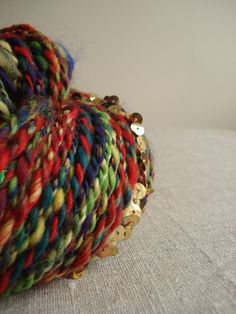 Sequin Party Handspun Yarn from Snowberrylime on Etsy