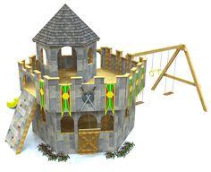 Red barn silo playhouse plan playhouse plans barns for Barn and silo playhouse